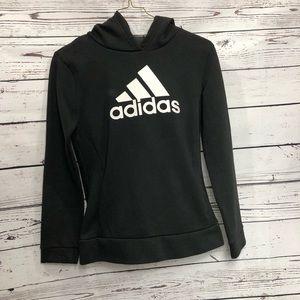 Adidas black and white logo hoodie.